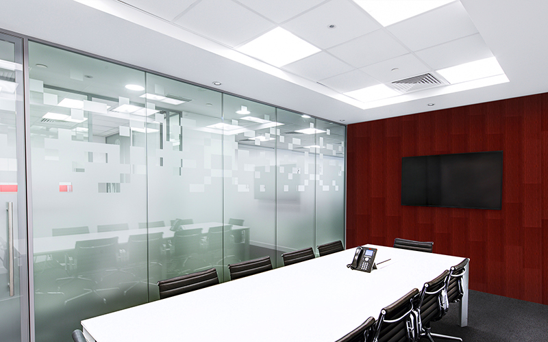 AFTER: Conference Room With Vertical Interior Panels