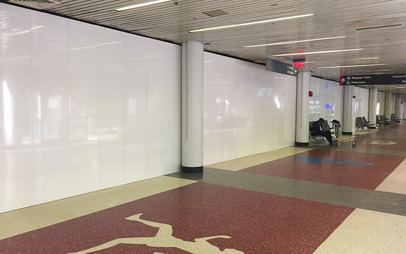 Temporary Partitions at Boston Intl Airport (BOS)