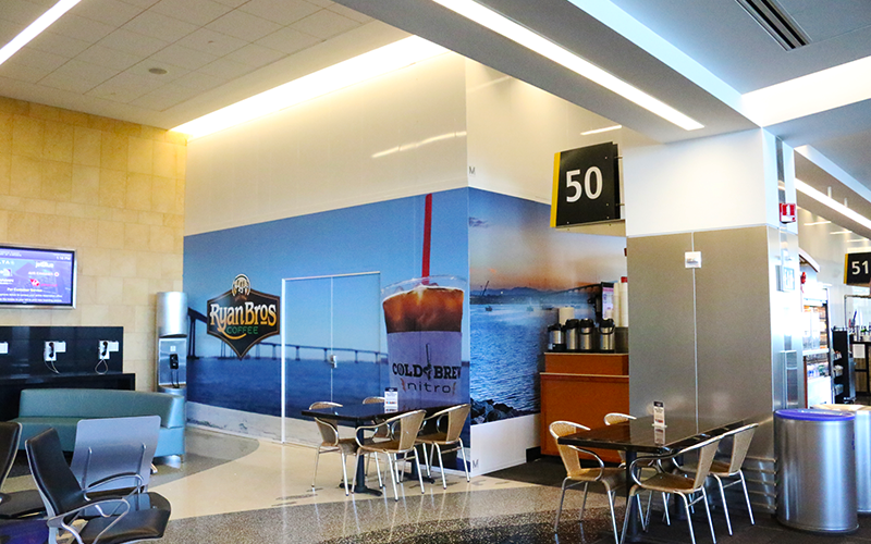 Transit Graphics Wrap Temporary Stacked Walls at San Diego Intl Airport