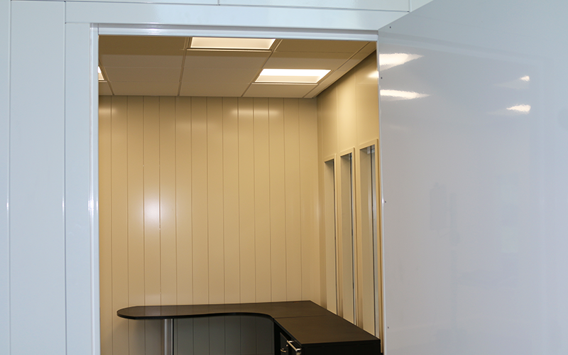 Modular Office Kits Support T-Bar Ceilings (Not Included)