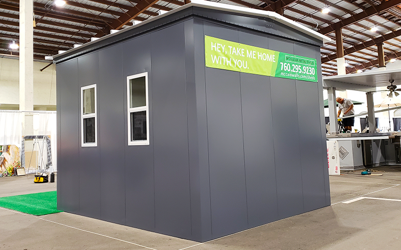 All Sheds and Small Buildings are Manufactured from .090 Aluminum and Powder Coated