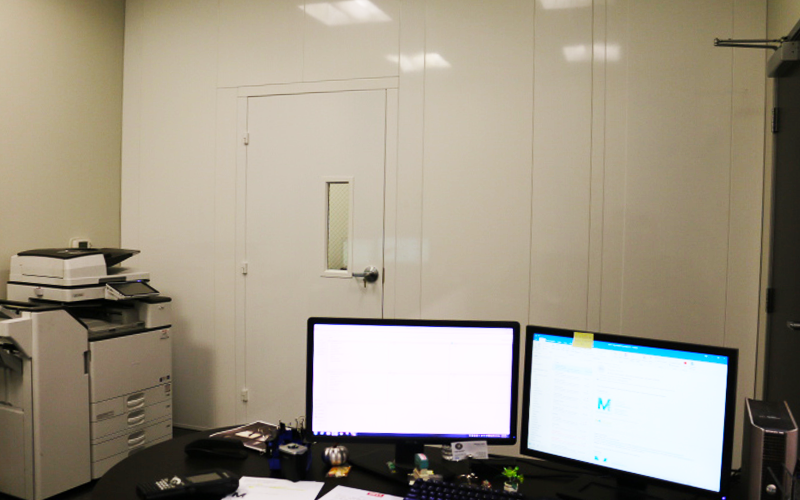 Office Partition with Single Door Access